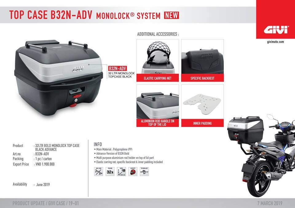 Thung xe Givi B32N-ADV 32L